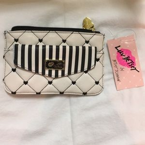 Betsey Johnson Pouch Packet Top Zip